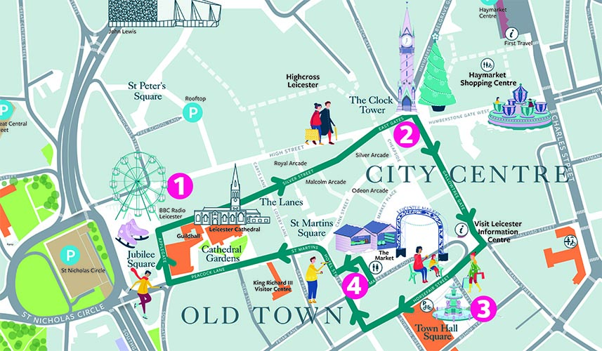 Follow Leicester's Festive Trail around the city!