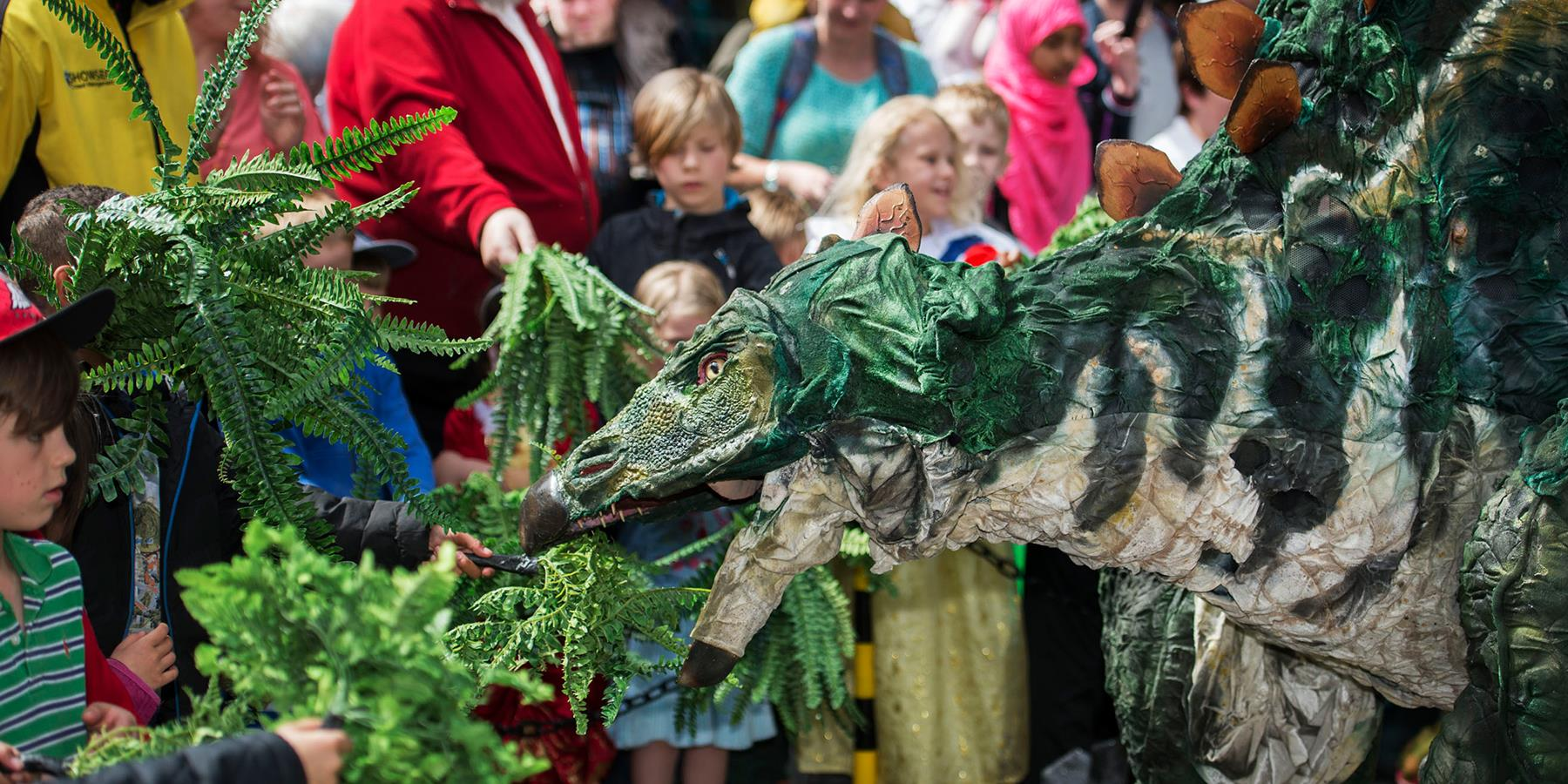 dinosaur at st georges festival