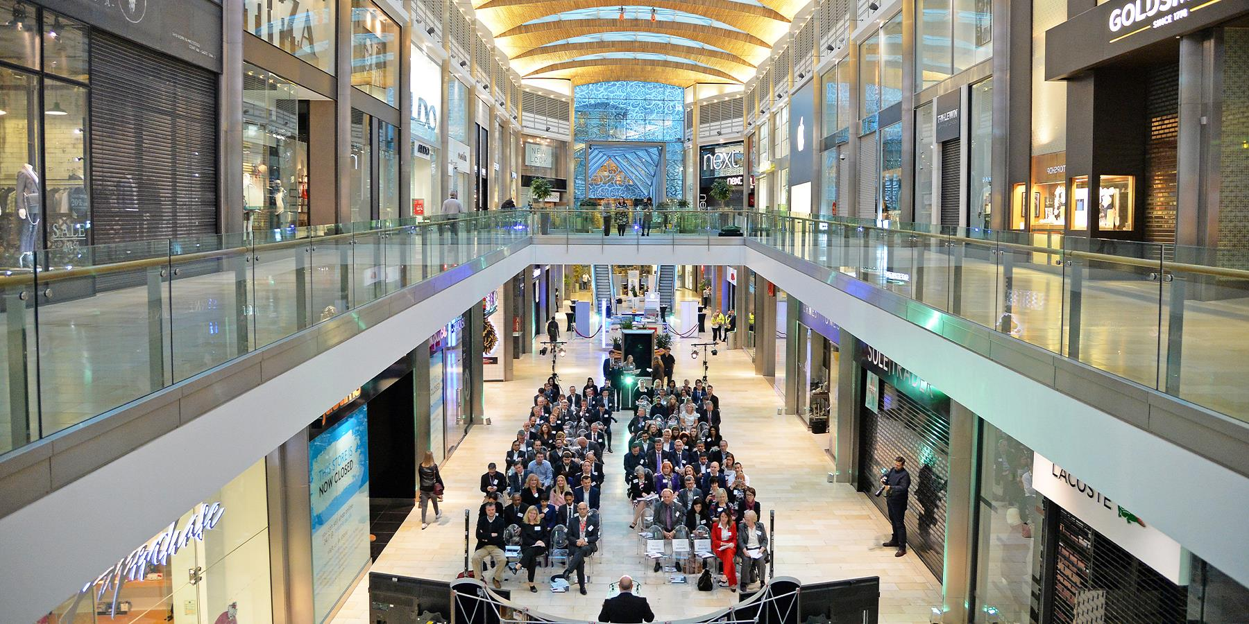 Leicester Business festival in highcross