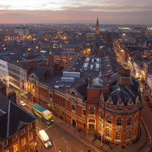Skyline view of leicester
