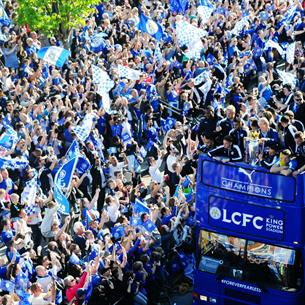 LCFC victory parade
