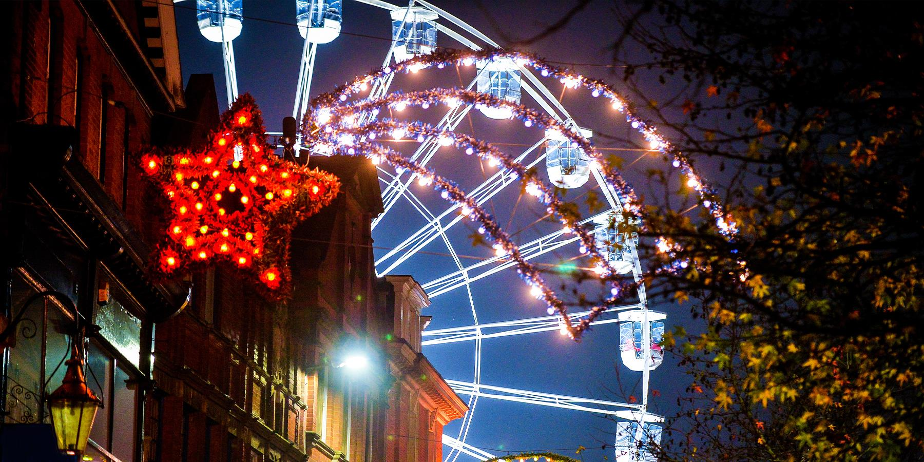 christmas in leicester wheel