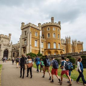 Belvoir Castle exterior - with people