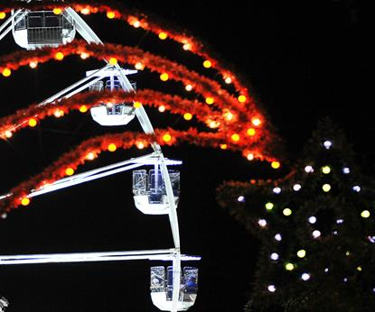 Christmas in Leicester - The Wheel of Light as seen from High Street
