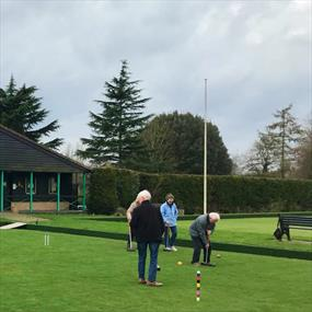 Leicester Croquet Club on the green