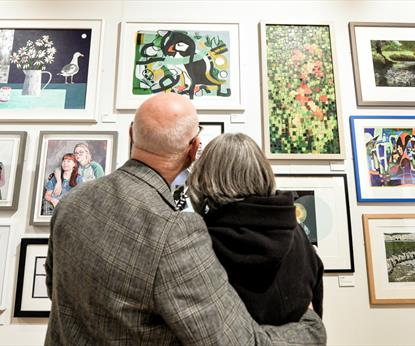 Couple enjoying the open exhibition