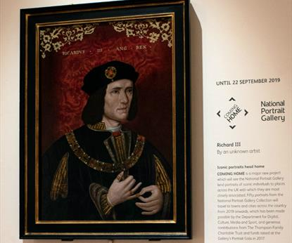 The Richard III Portrait from the National Portrait Gallery in situ