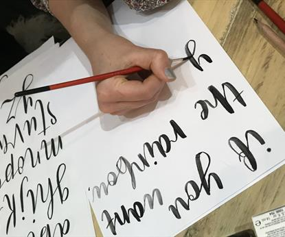Brush Lettering Workshop - with Lesser than 3