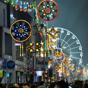 Leicester's Wheel of Light on Belgrave Road